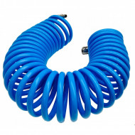 Furtun spiralat conectori aer comprimat din PU 12x8mm 15m VERKE V81354