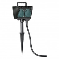 Prelungitor de gradina 10m cu dublu stecher H07RN-F 3G1,5 B1154454 Brennenstuhl
