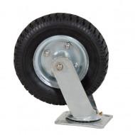 Roata pivotanta din cauciuc placa metalica carucioare 210 mm KD457 KraftDele