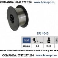 Sarma sudura MIG/MAG aluminiu 0.8mm 0.45 Kg ADLER ER4043 MA0036.0