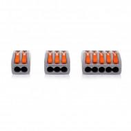Set 60 buc. conectori de terminale cu clips de tip WAGO 2,3 si 5 KD10496 KraftDele