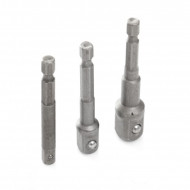 "Set adaptoare autofiletanta 3 elemente 1/4""-3/8""-1/2 "" KD1573 Kraftdele"