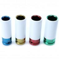 "Set de chei tubulare IMPACT 1/2"" 4 piese 17/19/21/22mm din teflon KD10523 Kraftdele"