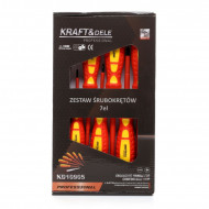 Set surubelnite 7 elemente electrician KraftDele KD10905
