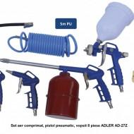 Set aer comprimat, pistol pneumatic, vopsit 8 piese ADLER AD-27Z