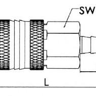 Cupla rapida aer, otel, stiut furtun 6 mm ADLER MA0130.0