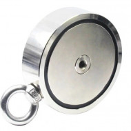Magnet neodim tip oala 180 Kg pentru ridicat cu carlig inelar rotativ KD10418 Kraftdele