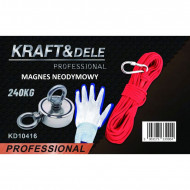 Magnet neodim tip oala 240 Kg pentru ridicat cu cârlig inelar rotativ KD10416 Kraftdele