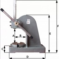 Presă mecanică manuală 2 tone KraftDele KD10343