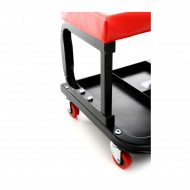 Scaun service auto cu sertar scule roti 360 grade KraftDele KD375