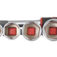 """Set chei tubulare 1/2"""" cu clichet eliberare rapidă, 19 piese KraftDele KD10108"""