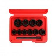 Set extractoare pentru suruburi rupte 10 elemente KraftDele KD10270