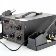 Statie de lipit cu aer cald si letcon 2 in 1 60W KraftDele KD850