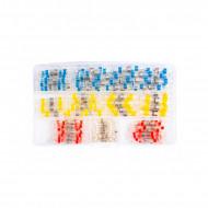 Tuburi termocontractabile cu inel de fludor set 120 buc. KD10491 Kraftdele