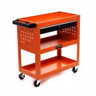 Carucior depozitare unelte cu 3 rafturi + sertar pentru atelier KD366 KraftDele