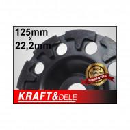 Disc diamantat pentru slefuit 125mm x 22.2mm KraftDele KD1957
