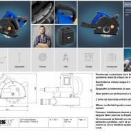 Masina taiat caneluri in zidarie 1800W MSW-SCM-L Profesional Germania