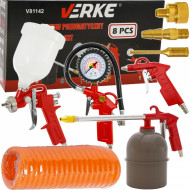Set aer comprimat, pistol pneumatic, vopsit 8 piese VERKE V81142