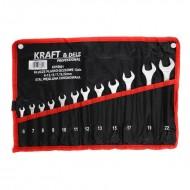 Set chei fixe 12 piese 6-13, 15, 17, 19, 22mm KraftDele KD10921 TBC