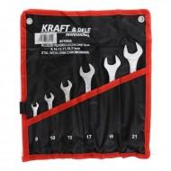 Set chei fixe comb. 6 piese 8, 10, 13, 17, 19, 21mm KraftDele KD10925