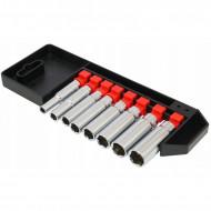 """Set chei tubulare 1/4"""" varianta lunga 6-13mm 8 elemente VERKE V39097"""