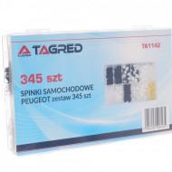 Set de 345 clipsuri si cleme caroserie auto marca PEUGEOT TA1142