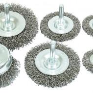 Set perii de inox pentru bormasina 6 elemente V05260 Verke