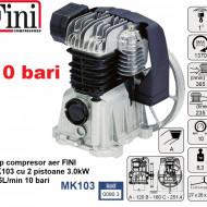 Cap compresor aer FINI MK103 cu 2 pistoane 3.0kW 235L/min 10 bari