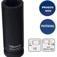 "Cheie tubulara de IMPACT 1/2"" ADLER AD-3513.18D 18mm varianta lunga"