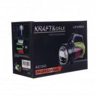 Lanterna T6 LED cu acumulator 8A, lumini laterale 1200lm 800m KD1243 KraftDele