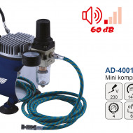 Mini compresor pentru aerograf AD-4001 25 l/min 4 bari MA0243.0