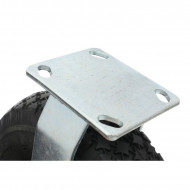 Roata fixa din cauciuc placa metalica carucioare 270 mm KD466 KraftDele