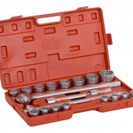 "Set chei tubulare hexagon dublu cu antrenor 21 piese, 3/4"", 19-50mm KraftDele KD305"