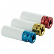 "Set de chei tubulare IMPACT 1/2"" 3 piese varianta lunga din teflon V86100 Verke"