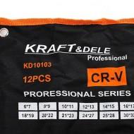 Trusa chei fixe 12 piese KraftDele KD10103 TBC