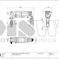 Ciocan rotopercutor 1050W SDS-Plus 4 joule BOH-1050-2 MSW Germania
