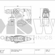 Ciocan rotopercutor 1800W SDS-Plus 6 joule BOH-1800-1 MSW Germania