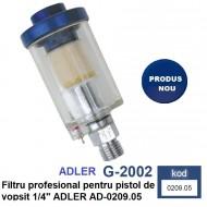 """Filtru profesional pentru pistol de vopsit 1/4"""" ADLER AD-0209.05"""