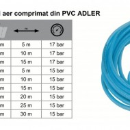 Furtun drept cu conectori aer comprimat din PVC 15x10mm 10m ADLER AD0142.51