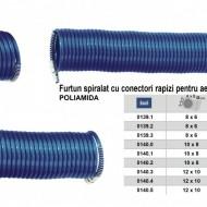 Furtun spiralat conectori aer comprimat din PA 12x10mm 15m 15/45 bari ADLER MA0140.5