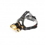 Lanterna frontala de cap T6 LED cu 2x Q5 zoom 1-2000x 18A KD1246 KraftDele