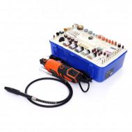Mini freza electrica 230V 270W 218 piese 35000 rpm KD10751 Kraftdele