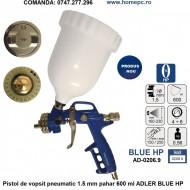 Pistol de vopsit pneumatic 1.5 mm pahar 600 ml ADLER BLUE HP AD-0206.9