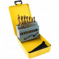 Set burghie metal in cutie metalica 19 elemente 1-10mm VERKE V05070