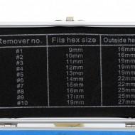 Set Extractor suruburi defecte 10 elemente CrV KraftDele KD10268 TBC