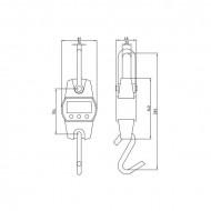 Cantar de macara - 300 kg / 100 g - negru SBS-KW-300AB Steinberg 10030062