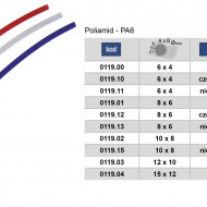 Furtun pneumatic POLIAMIDA PA6 10x8 mm Alb ADLER MA0119.02