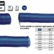 Furtun spiralat conectori aer comprimat din PA 8x6mm 5m  24/71 bari ADLER MA0139.1