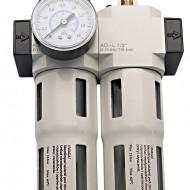 "Reductor cu filtru de apa si ulei pentru aer comprimat ADLER AD-FRL 1/2"" MA3125.1"