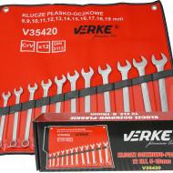 Set chei fixe + inelare combinate 12 piese 8-19mm V35420 Verke